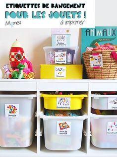 Voici des étiquettes de rangement pour jouets, une méthode simple et hyper efficace pour aider les enfants à mieux organiser leur chambre, pour les motiver à ranger leur jouets et surtout les retrouver ! Car le principal c'est quand même de jouer, non ? Vous pouvez imprimer nos petites étiquettes pour jouets juste ci-dessous !