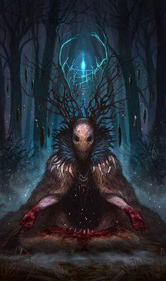 El arte de la fantasía--Wendigo, cuando menos...realmente inquietante...¡¡¡GENIAL!!!.