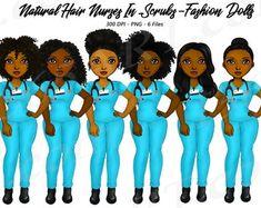 Black Love Art, Black Girl Art, Black Girls, Black Women, Girls Natural Hairstyles, Natural Hair Styles, Nurse Clip Art, Hair Clipart, Fashion Clipart