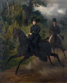 Portrait équestre de Pierre Auguste Le Roy et de son épouse 1826