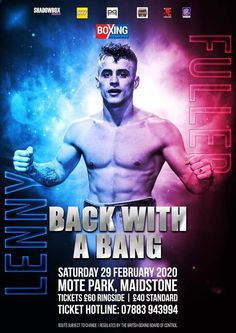 Ultimate Boxxer finalist Lenny Fuller takes 'Leap' up in class on February 29 - Ring News 24 Mote Park, Gypsy Warrior, I Can Do It, Boxing News, Fb Page, Olympians, Knock Knock, Victorious, February
