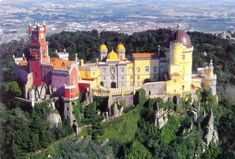 Palácio da Pena, Sintra, Portugal — The palace is a UNESCO World Heritage Site and one of the Seven Wonders of Portugal.