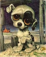Puppy puzzle The sad animal pictures with the big eyes. Tennessee Williams, Big Eyes Paintings, Cute Puppies And Kittens, Sad Eyes, Dog Shedding, Illustration, Thing 1, Artwork Prints, Dog Artwork