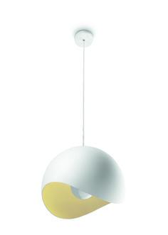 MOSELLE - lampa wisząca o ciekawym, asymetrycznym wycięciu klosza i żółtym wykończeniu jego wnętrza. Lampa wykonana została z wysokiej jakości metalu, który pomaga rozproszyć światło i zapewnić jego ciepłą poświatę.Minimalna wysokość - 0,0 cm, maksymalna wysokość - 150 cm, długość - 30 cm, szerokość - 30 cm. #Philips #Lighting #nowoczesne #oświetlenie #salonu #kuchni #jadalni Lighting, Home Decor, Decoration Home, Room Decor, Lights, Home Interior Design, Lightning, Home Decoration, Interior Design