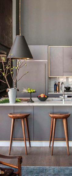 Modern kitchen with stunning brass accents