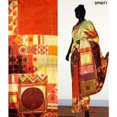 Bankura (bishonpur) Silk Hand Painted Saree. MADE on ORDER. 4 WEEKS DELIVERY TIME pd0071