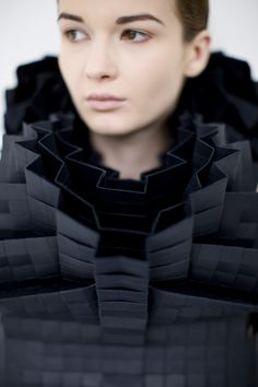 #Fashion #Architecture - folds & texture, sculptural fashion design - Morana Kranjec