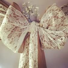how to make lace chair sashes - Google Search