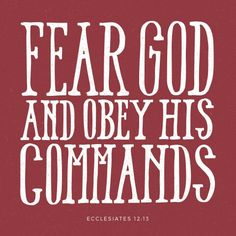 Now all has been heard; here is the conclusion of the matter: Fear God and keep his commandments, for this is the duty of all mankind. -Ecclesiastes 12:13 #feargod #purpose #duty