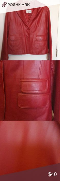Leather jacket 100%Leather blazer Pamela McCoy  Jackets & Coats Blazers