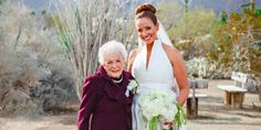 Brides: This 95-Year-Old Grandmother Made the Most Adorable Flower Girl Ever