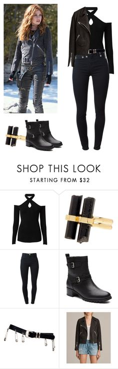 """Clary Fray - Shadowhunters"" by shadyannon ❤ liked on Polyvore featuring Witchery, House of Harlow 1960, J Brand, Versace and AllSaints"