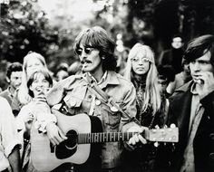 George and wife Pattie (aka 'Layla') tripping in the Haight-Ashbury in 1967