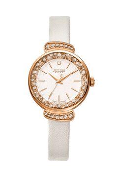 Julius Watch JA-866E Fashion Watch Women`s Leather Strap Watch