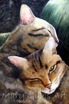 Sleepy Heads | Mary Gibbs Art - watercolour