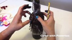 """""""Bottle Bling"""" with Powertex Fabric Hardener"""