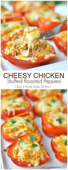 Your Own Low-carb Fast Food Cheesy Chicken Stuffed Peppers - these are SO delicious! Make them in the oven or on the grill this summer!Cheesy Chicken Stuffed Peppers - these are SO delicious! Make them in the oven or on the grill this summer! Low Carb Fast Food, Low Carb Diet, Gm Diet, Best Low Carb Meals, Low Cholesterol Meals, Keto Diet Meals, Carb Free Meals, Healthy Fast Food Options, Low Sugar Diet