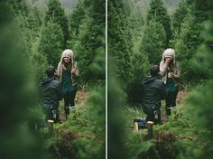 we're celebrating 100 days until Christmas with this adorable proposal at a tree farm :)