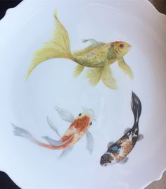 My work, china painting, hand painted plate