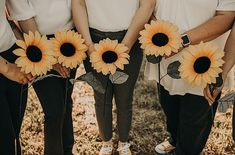 Lauren and Lindsey's Super Cool 'Converse and Sunflower' Texas Wedding by Nikk Nguyen Photo Bride And Bridesmaid Pictures, Brides And Bridesmaids, Groomsmen Tuxedos, Groom And Groomsmen, Non Flower Bouquets, Loft Wedding, Wedding Blog, Cool Converse, Wedding Ceremony Decorations