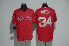06a084c61ab 2017 MLB Boston Red Sox 34 Ortiz Red Fashion Edition Jerseys