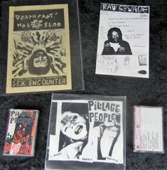 "Pillage People LOT 2 Demo Tapes + Shiny Happy People 7"" EP + 2 Fanzines PUNK #PunkNewWave"