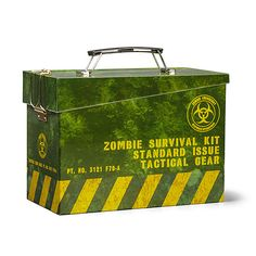 A Zombie-Themed Lunchbox That Looks Like an Ammo Can, But Instead Holds Survival Food