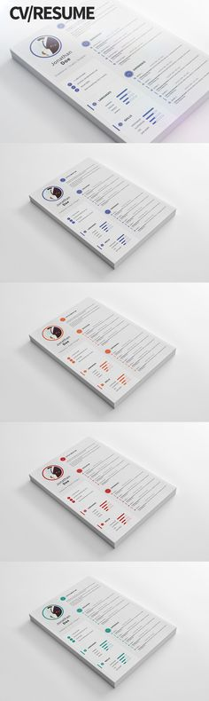 Modern And Clean CV / Resume Template PSD