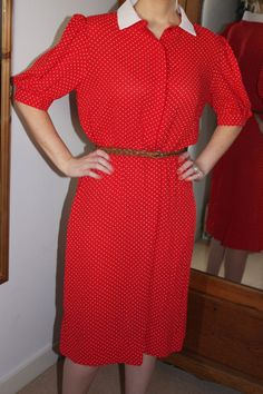 Late 1970s Vintage John Roberts vintage red by MinnieTheMoocher1, $35.00