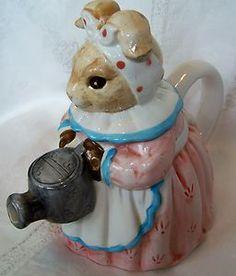 Mother Rabbit Figural Tea Pot