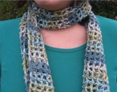 Multicolored Mesh Scarf by tabachin on Etsy
