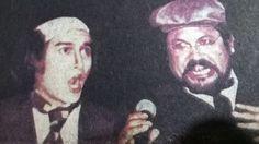 """En """"Ratas, ratas, ratas"""" con mi amigo Reynold Guerra echándonos un dueto. Mi personaje: el inolvidable """"Burgomaestre Schmid"""". Dirigió: Gerardo Valdez con el grupo """"Rehilete""""."""