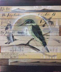 Jason Hicks Bird Graphic, New Zealand Art, Nz Art, Maori Art, Animal Paintings, Drawing Ideas, Printmaking, Landscape Paintings, Birds