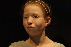 "Facial reconstruction of a girl found in Athens, believed to have died around 430 B.C.E.  She has been named ""Myrtis."""