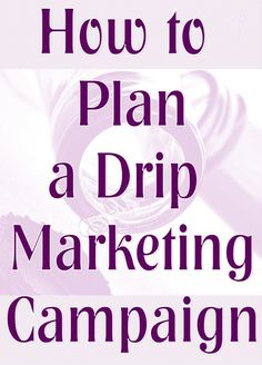 Drip marketing is a strategy of sending out information to prospects or leads at a specific time in the buying cycle. It is part content marketing, part email or direct mail, part social media, part blogging and part relationship marketing.