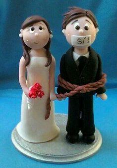 Haha wedding cake topper