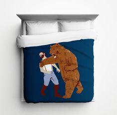 The Bear Strikes Back Duvet Cover - Made in USA