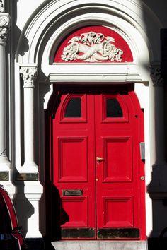Red door in Covent Garden, London