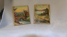 Pair of Vintage Landscape photo cards wood mounted trimmed in gold Made in USA Breaking In Shoes, Vintage Landscape, Buy Shoes Online, How To Make Shoes, Shoe Shop, Landscape Photos, Photo Cards, How Are You Feeling, The Incredibles