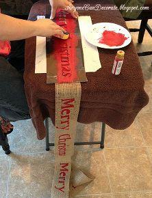 diy burlap christmas tree garland, christmas decorations, crafts, seasonal holiday d cor