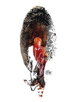 """""""Huella"""" ilustración de Andrés Casciani para el libro """"inventArg"""" de Bruno Cervi  - digital, 2014/ http://andrescasciani.com/"""