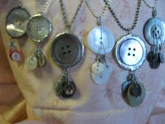 Button pendents. These are a really simple way to show off beautiful buttons