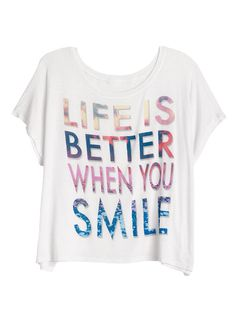 dELiAs > Life Is Better When You Smile Tee > tops > view all tops