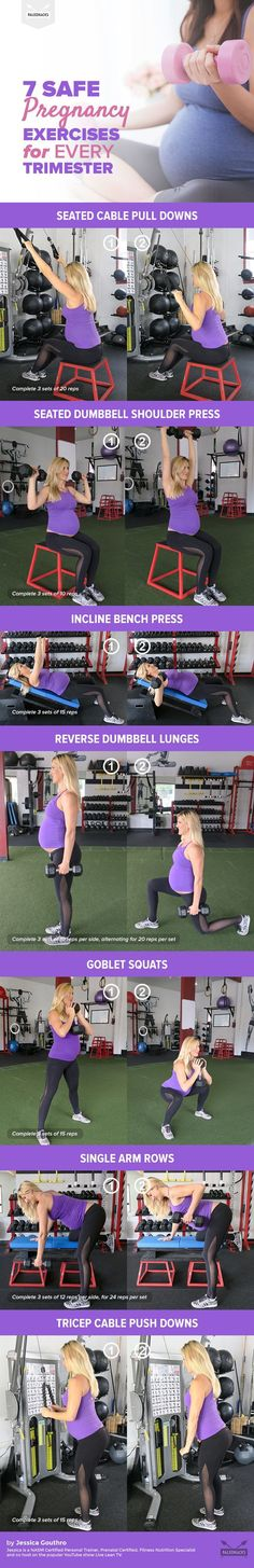 Good news: You can hit the weight room when you're pregnant! Just make sure you stick to these key moves.