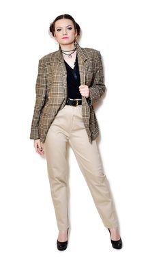 plaid blazer outfit preppy  US$39.95