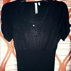 Timeless black top. Slimming black top with beautiful detail. Perfect top for any occasion! Tops