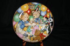 The 1998 Carol Lawson Plate   Teddy's by HeathersVintageRetro, $20.00