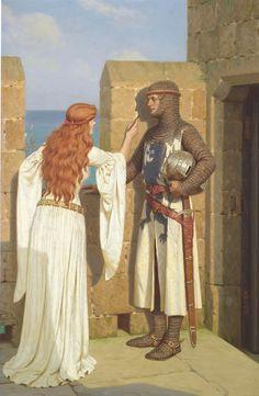 Edmund Blair Leighton (1852-1922), The Shadow.
