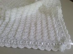 Items similar to Crochet Baby Blanket/Afghan White Christening, Baptism, Baby Granny Square Baby Shower Gift Satin Ribbon Baby Girl Baby Boy on Etsy Crochet Baby Blanket Sizes, Crochet Baby Cardigan, Crochet Baby Booties, Crochet Blanket Patterns, Diy Crafts Crochet, Crochet Gifts, Crochet Projects, Knitted Blankets, Baby Blankets