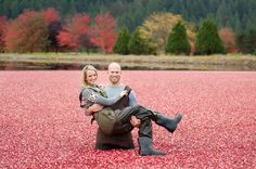 Cranberry Harvest Engagement Session by Blush Wedding Photography